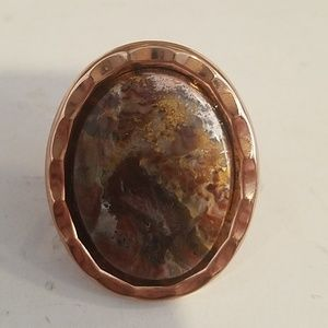 Agate cocktail ring sample